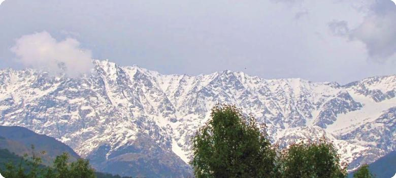 Dhauladhar mountain range cradling Dharamshala