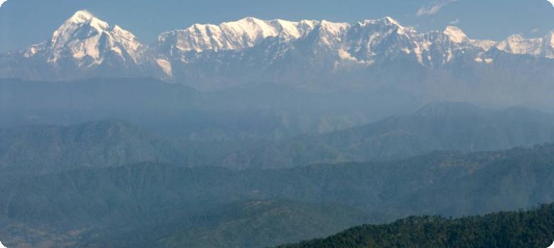 Kausani snow peak view