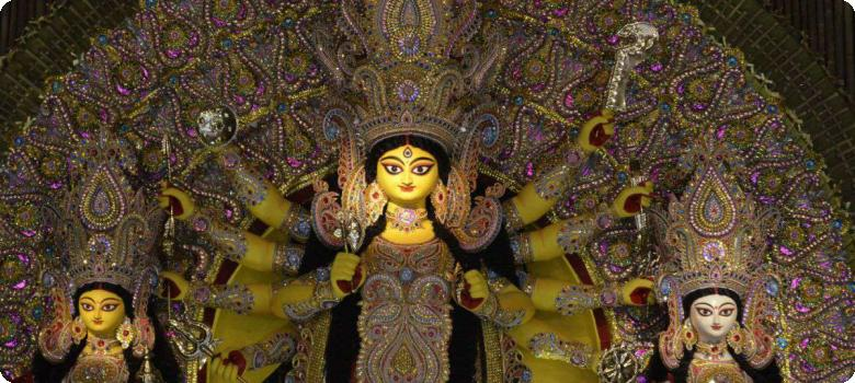 Devi sweet young mother, Kolkata Durga Puja 2015