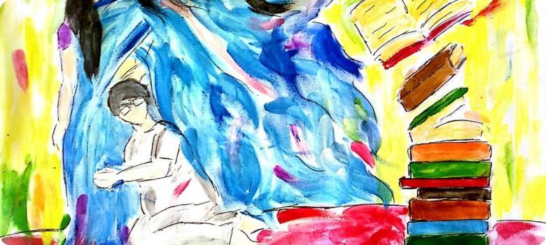 বুঝে না বুঝে মায়ের বইগুলি সে গোগ্রাসে গিলতে শুরু করলো