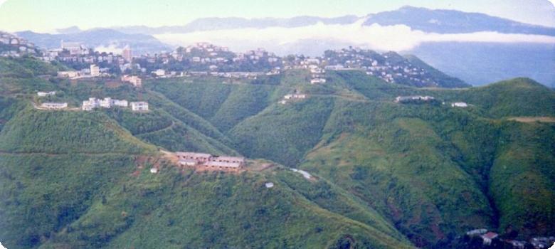 Lunglei on the Mizoram hills