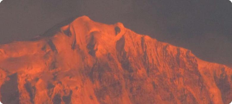 Golden sunrise over Himalayas