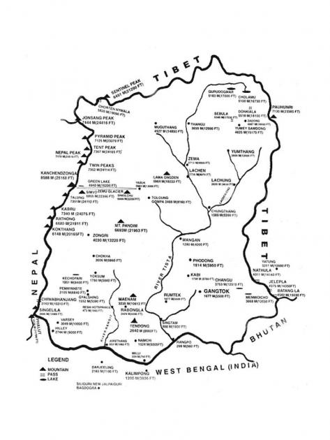 Map of Sikkim (Source: sikkimtourism.gov.in Official website of Sikkim Tourism, Govt of Sikkim)
