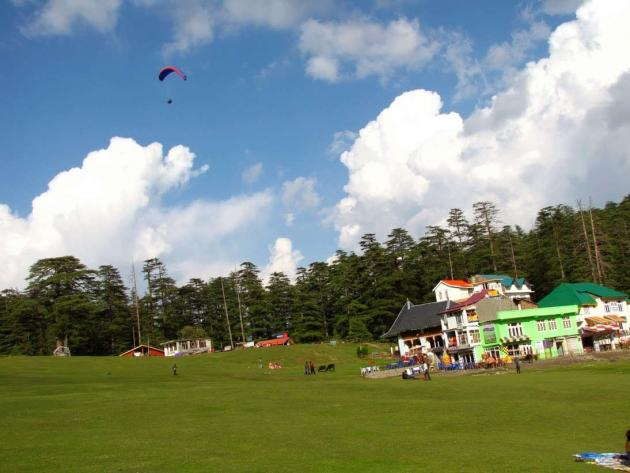 First paraglider Khajjiar lake