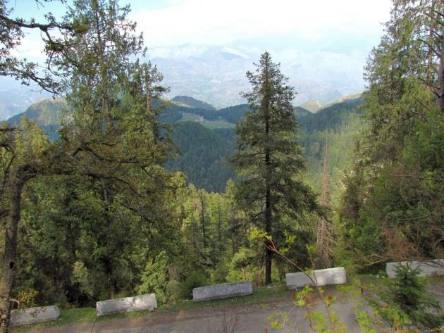 Khajjiar lake far away