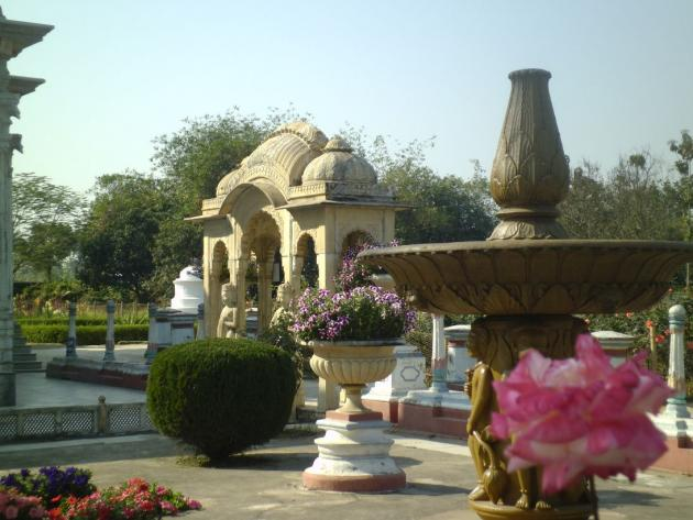 Adinath temple grounds