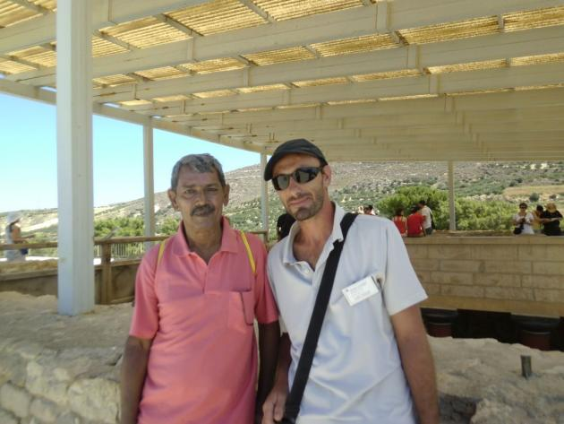 My husband with our Greek tour guide