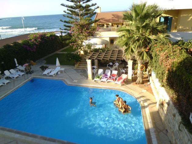 Swimming pool and ocean view from balcony