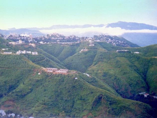 Lunglei on deep green rolling hills